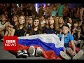 Moscow celebrates World Cup success - BBC News