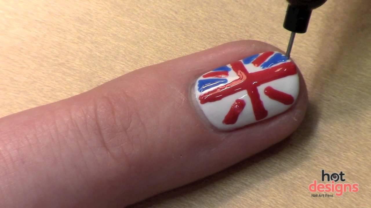 British Flag Nail Art Tutorial Youtube