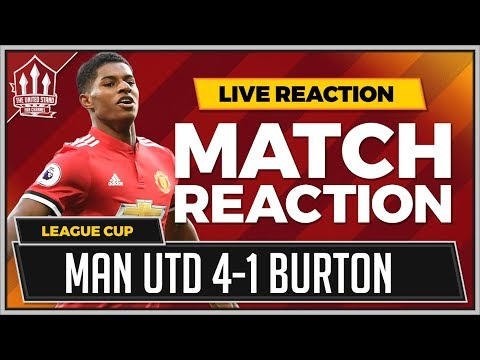 Manchester United 4-1 Burton Albion | RASHFORD, LINGARD & MARTIAL GOALS Win It