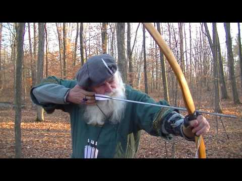 PRE DRAW ANCHOR ALIGNMENT--AIMING A PRIMITIVE LONGBOW