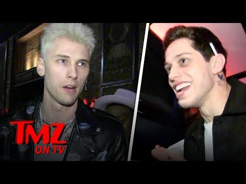 MGK's 29th Birthday with Pete Davidson & Hot Chicks! | TMZ TV