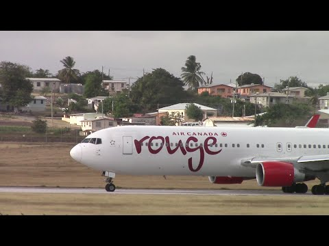 Air Canada Rouge Full Taxi and Departure from *Barbados With ATC*