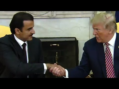Trump, Emir of Qatar on ending terrorism funding