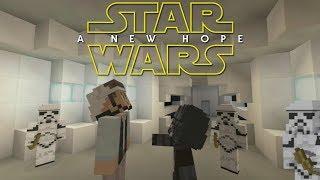 Minecraft StarWars: A New Hope Opening Scene Recreation