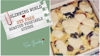 Slimming World (syn Free) Roasted Vegetable Quiche