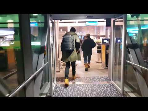 Arriving at Helsinki airport ( HEL) in Finland