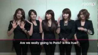 [Shoutout] 4MINUTE for Music Bank in Paris