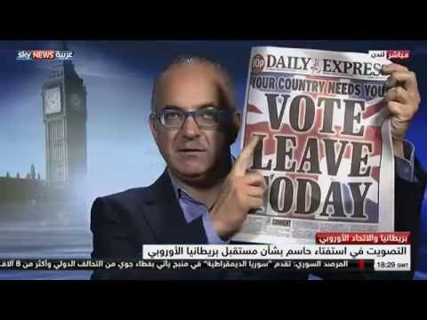 Tom Gross on Sky News Arabia on Britain's Brexit vote, London, 23.6.16