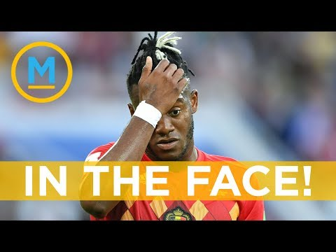 Belgian soccer star Batshuayi's goal celebration literally b