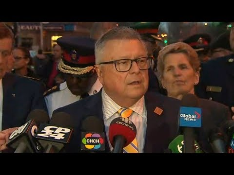 "Ralph Goodale says tragic event in Toronto has ""no national security connection"""