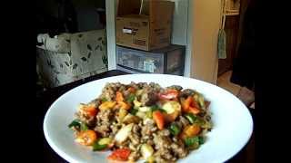Spicy Beef Garden Vegetables Stir-fry  Wild & Brown Rice 1/2 Chef John The Ghetto Gourmet
