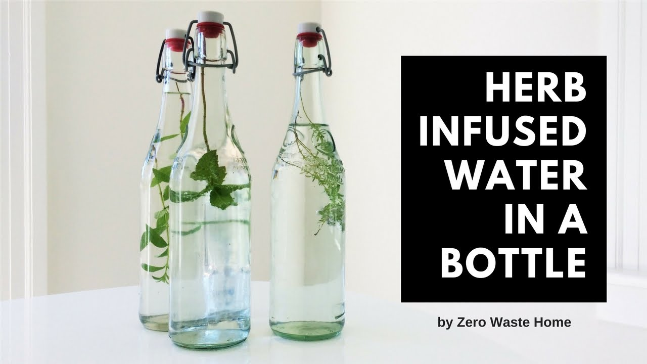 Herb Infused Water in a bottle