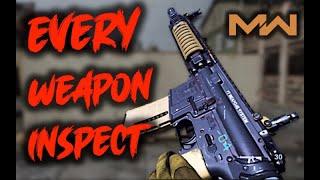 EVERY Weapon Inspect in Modern Warfare