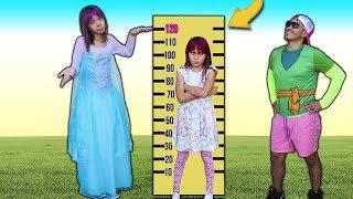 Biankinha quer ser alta e brincar no trampolim  ♥ Kids wants to be taller & jump on a trampoline