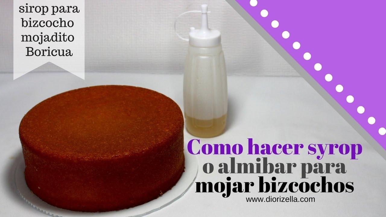 Como hacer syrop o almibar para mojar bizcochos diorizella - Como hacer melocoton en almibar ...