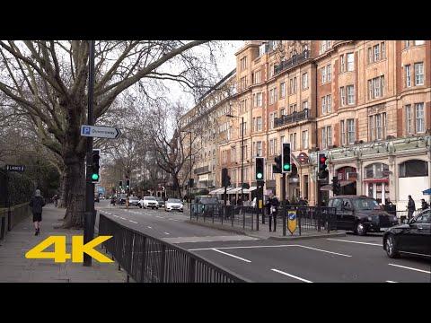 London Walk: Bayswater Road | Lancaster Gate To Notting Hill Gate【4K】