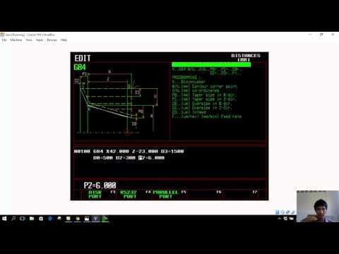 การเขียนโปรเเกรม CNC งานกลึง โปรแกรม emgo
