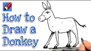 How to draw a Donkey Real Easy - step by step