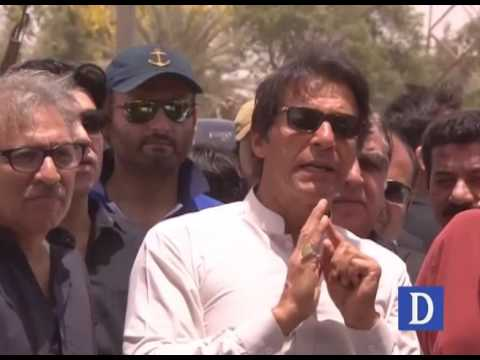 Imran Khan media talks in Karachi