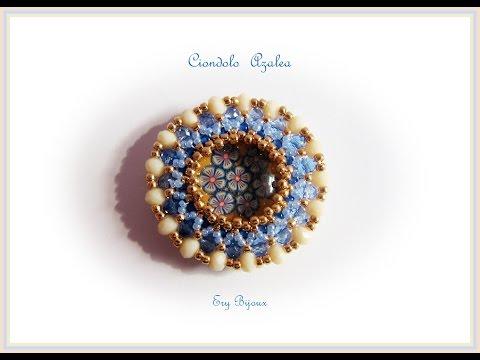 Tutorial | Ciondolo Azalea | Tecnica Embroidery + Peyote