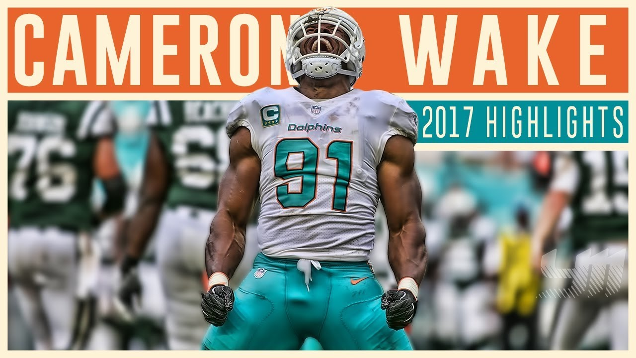 competitive price c9b11 3d714 Cam Wake 2017 Miami Dolphins Highlights