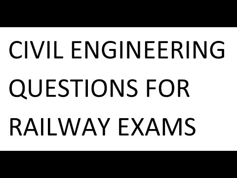 Civil Engineering Previous Year Questions For Railway Exams