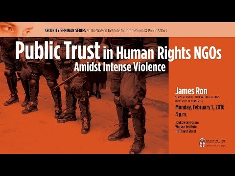 Public Trust in Human Rights NGOs Amidst Intense Violence