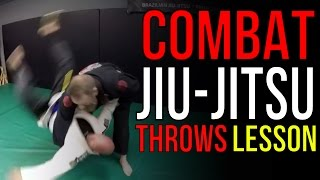 "Combat Jiu-Jitsu Throws to Armlock - TRITAC-Jitsu ""Flow"" Lesson"