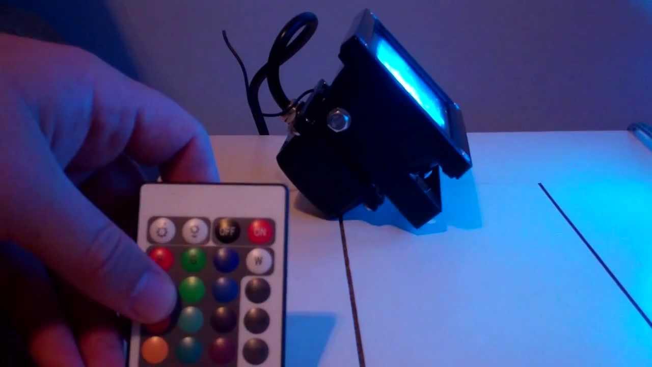 HitLights 10W LED Color Changing Flood Light - YouTube