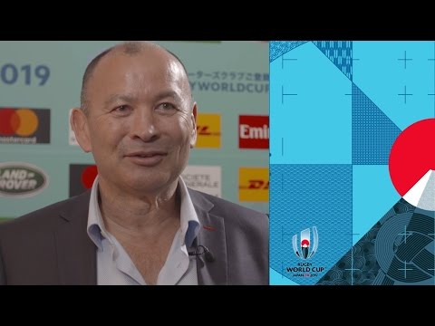 Eddie Jones reacts to England's Rugby World Cup group draw