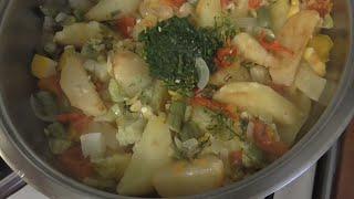 Ужин на скорую руку  Рагу овощное из морозилки.