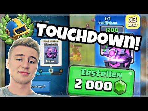 TOUCHDOWN MODUS + 2000 GEMs Turnier! Clash Royale deutsch