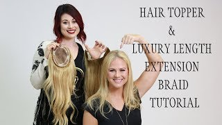 How to braid luxury hair topper halo extension hair tutorial
