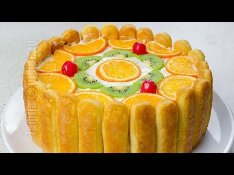 Tort diplomat | Ladyfingers Fruit Cake (CC Eng Sub) | JamilaCuisine