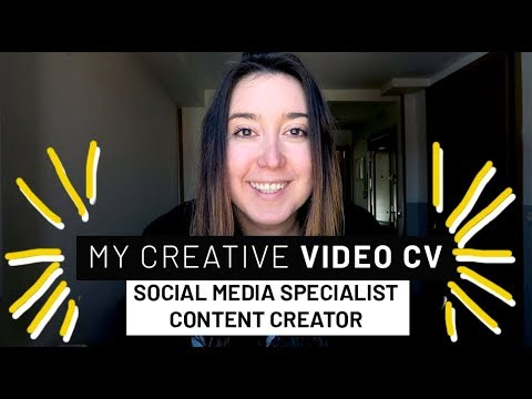 THE BEST VIDEO CV YOU HAVE EVER SEEN - Isabel Salas - Social Media Specialist