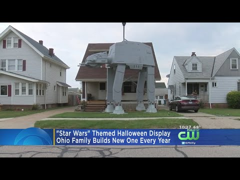 Ohio Family Makes 'Star Wars' Themed Halloween Display