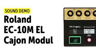 Roland EC-10M EL Cajon Modul Sound Demo