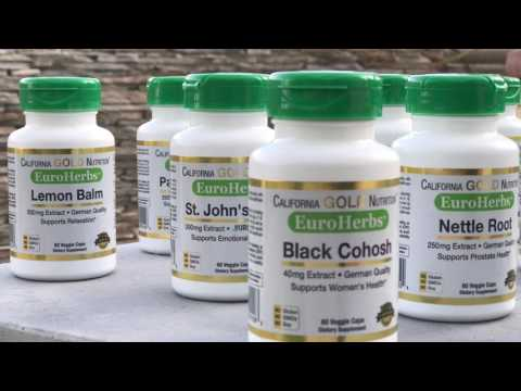 EuroHerbs , California Gold Nutrition, New European Line, Part 1 ,  6 Products