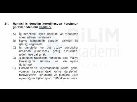 Türkiye Geneli Deneme Sınavı Kpss - A (Alan Bilgisi) Maliye Soru Çözümleri