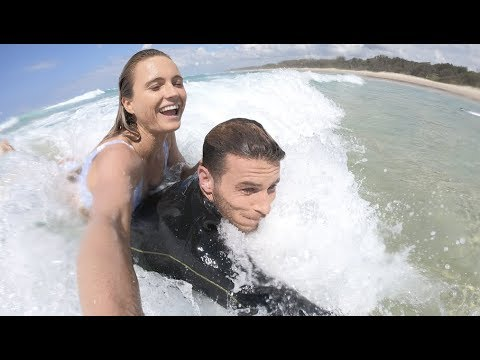 BYRON BAY | ALANA & JACK live like Elon  Musk in Tesla house | EPS 3 HAPPY WAVES | vegan tacos
