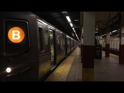 BMT subway: (B) (N) (Q) (R) Trains @ DeKalb Avenue (R46, R68A, R160)