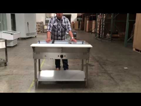 Buffet  Food Warmer Steam Table CASTERS NSF