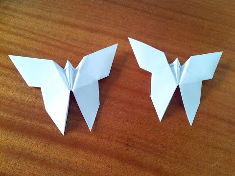 видео: Как сделать бабочку оригами, origami butterfly