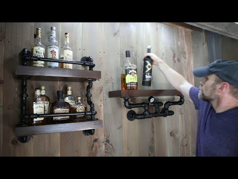 Build Industrial Pipe Shelves