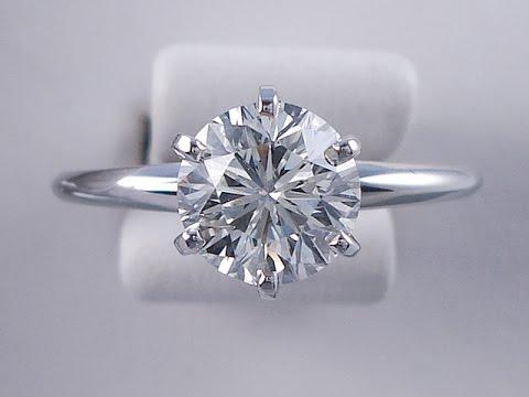 1.46 ctw Round Brilliant Cut Diamond Solitaire Engagement Ring I Color VS2 Clarity