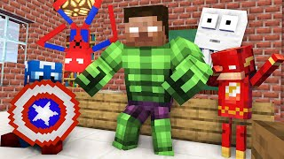 Monster School : BECAME A SUPERHERO Challenge - Minecraft Animation