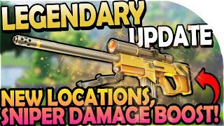 NEW UPDATE - NEW NAMED LOCATIONS, HUGE SNIPER DAMAGE BOOST, STATS! - Fortnite Battle Royale Gameplay