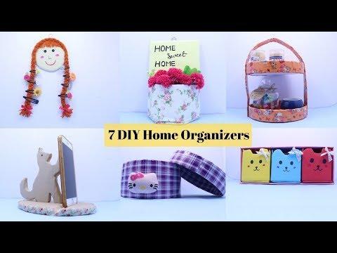 7 Useful DIY Room Organizer Ideas || DIY  Cardboard Box Projects  by Aloha Crafts