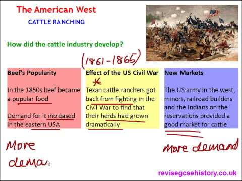 American West - Cattle Ranching - Spread of Cattle Ranching