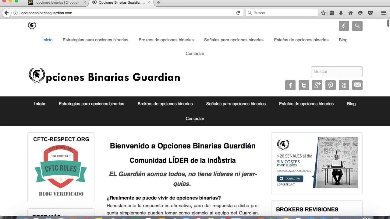 Opinion opciones binarias guardian